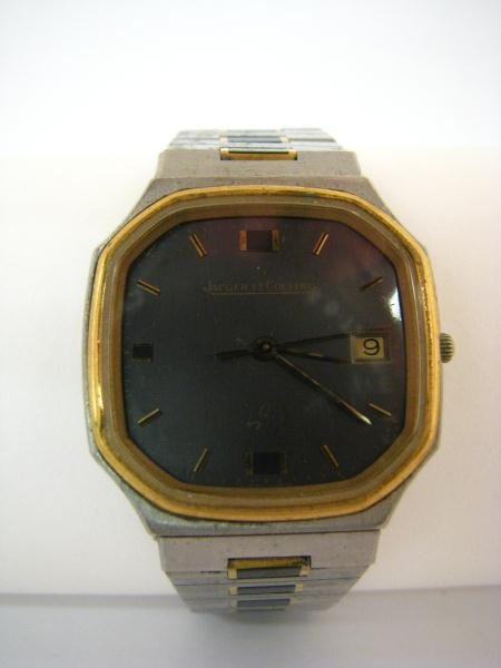 613: Jaeger LeCoutre Stainless and Vermeil Wristwatch