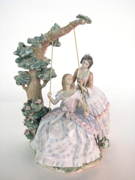 """695: Lladro Figural Grouping, """"A Quiet Conversation"""""""
