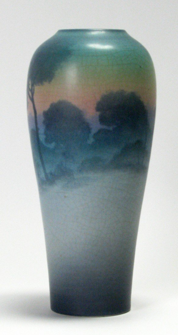703: Artist Signed Rookwood Hand Painted Scenic Vase