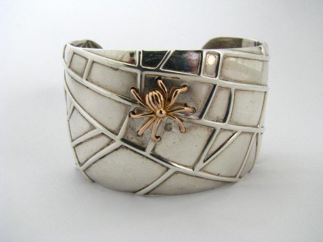 500: A Tiffany & Co. Sterling Spider Web Cuff Bracelet