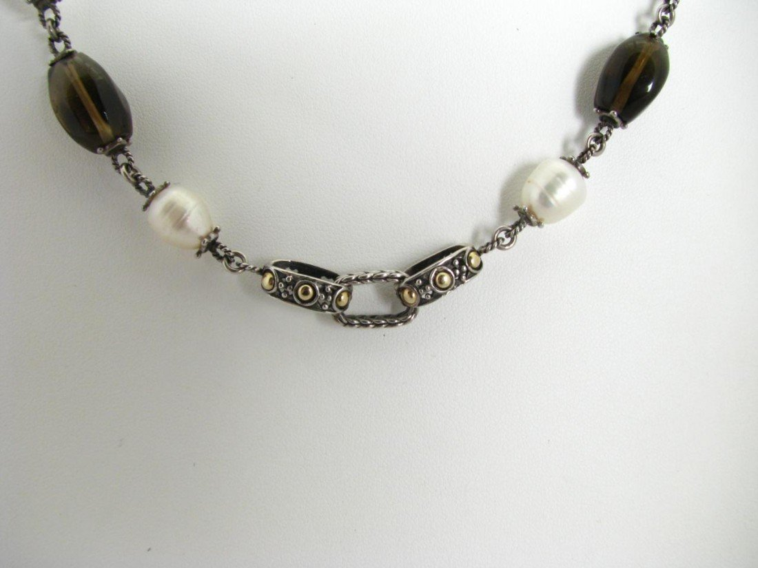 509: A John Hardy Sterling & 18K YG Designer Necklace
