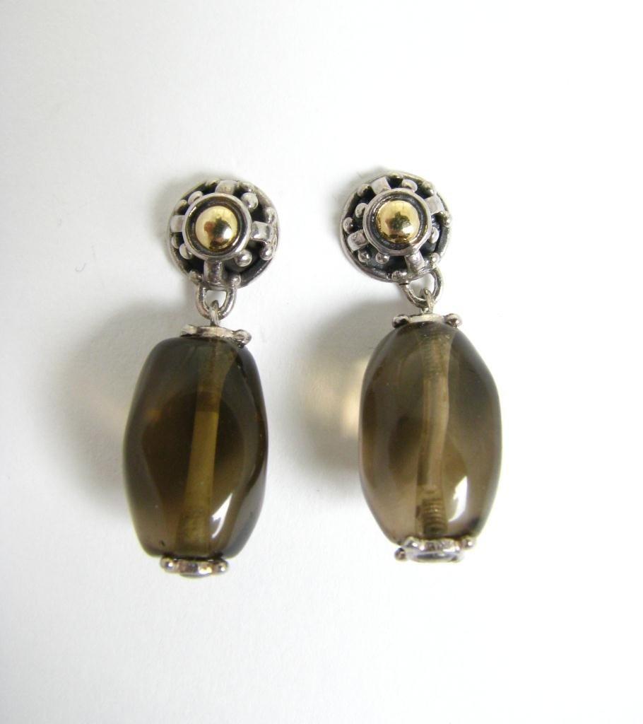 510: A Pair of John Hardy Sterling & 18K Dangle Earring
