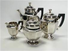 Christofle Villares Silver Plated Coffee, Tea Svc