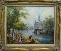 619 Signed Vintage Decorator Oil Painting