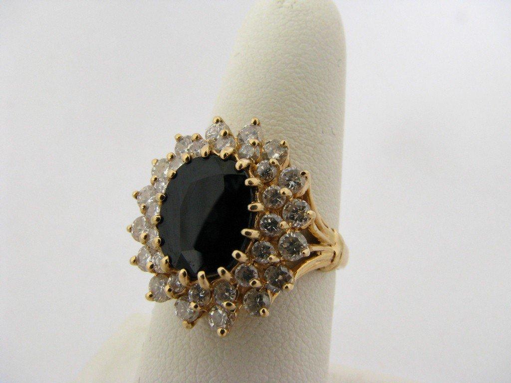510F: 14K Gold Sapphire & Diamond Lady's Ring