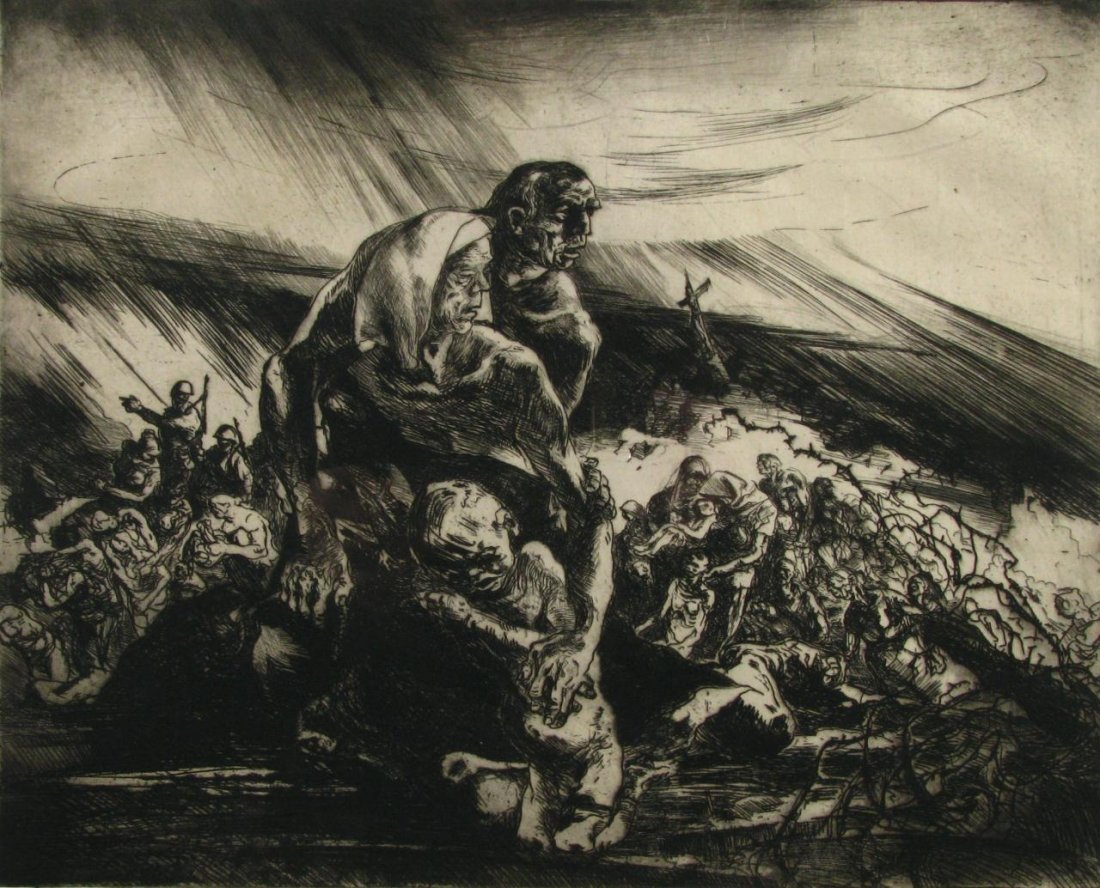 "3: JE Costigan Engraving ""The Hungry & the Homeless"""