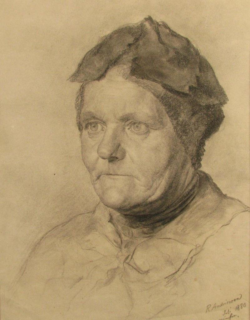 23A: R. Andriessen Four Graphite Female Portraits