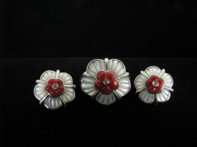 Lady's 14K WG Ring & Matching Earrings