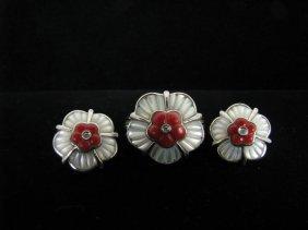 103: Lady's 14K WG Ring & Matching Earrings