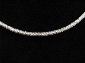 111: Lady's 18K WG Diamond Choker, 4-5cts
