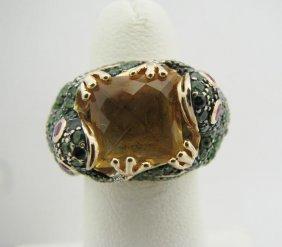 121: Lady's 14k YG Frog Motif Designer Ring