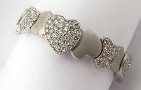 123: Lady's 18K WG FRED As De Coeur Collection Bracelet