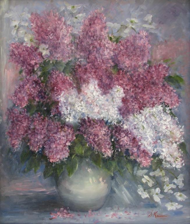 "802: Sally Kriner 28x24 O/C ""Lilacs"""