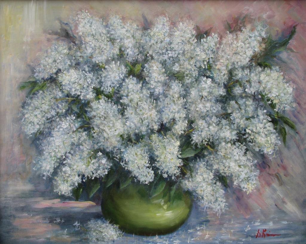 804: Sally Kriner 24x30 O/C Foxglove in Vase