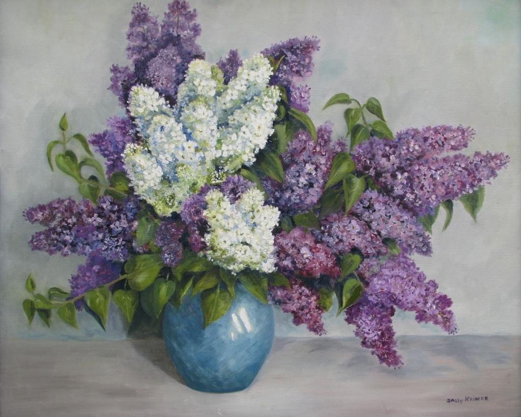 "805: Sally Kriner 25x30 O/C ""Lilacs"""