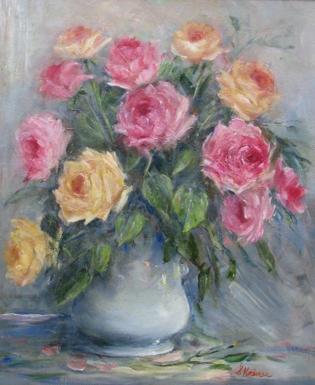 "815: Sally Kriner 24x20 O/C ""Roses"""