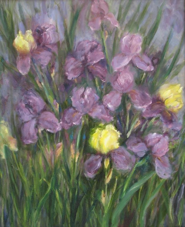 818: Sally Kriner Two Paintings O/C Iris