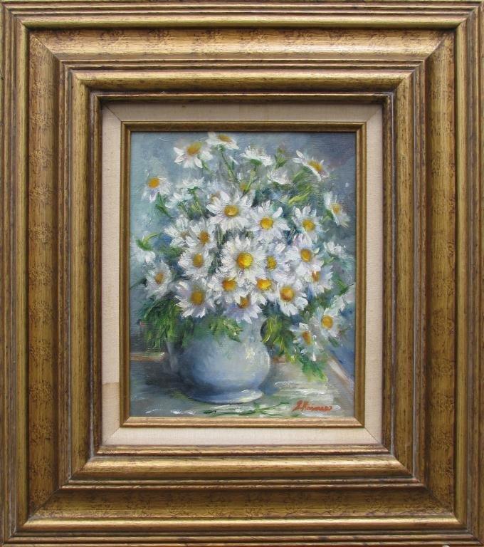 "822: Sally Kriner 10 x 8 O/C ""Daisies"""