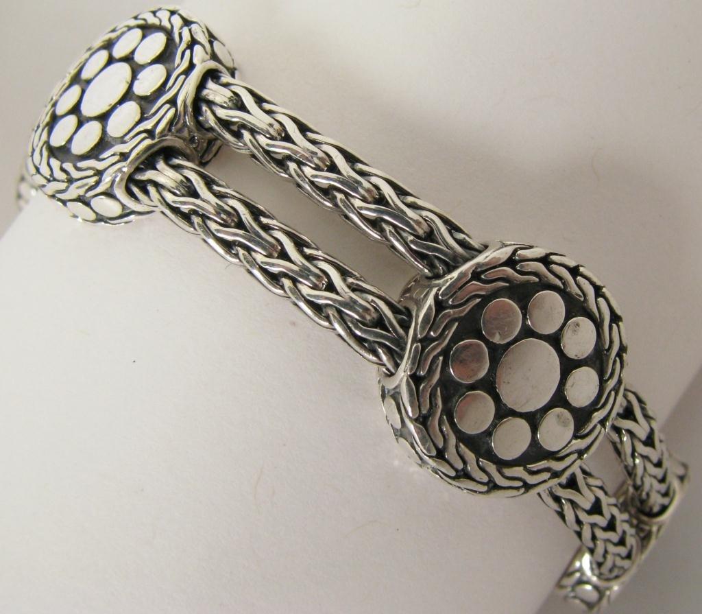 410: John Hardy Sterling Silver Dot Bracelet