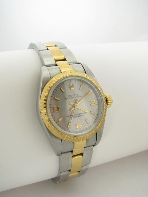 421: Lady's 18K/Stainless Rolex Wristwatch