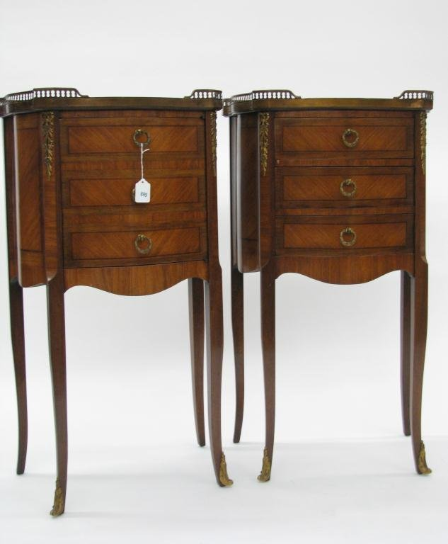 699: Pair of French Louis VX style Stands