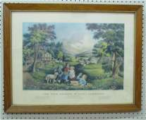 """702: Currier& Ives,""""The Four Seasons of Life: Childhood"""