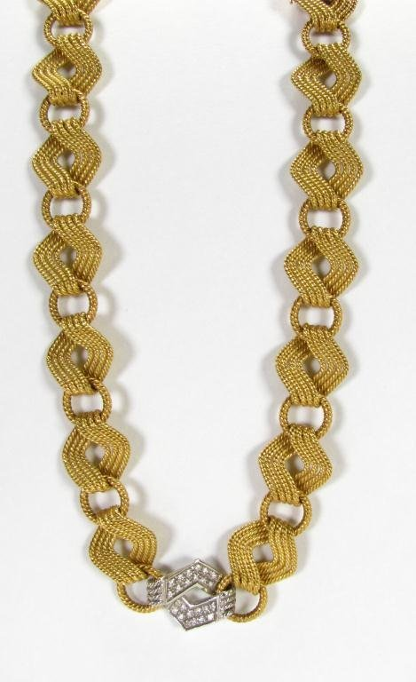 512: Marchisio Designer Cable Link Choker with Diamonds