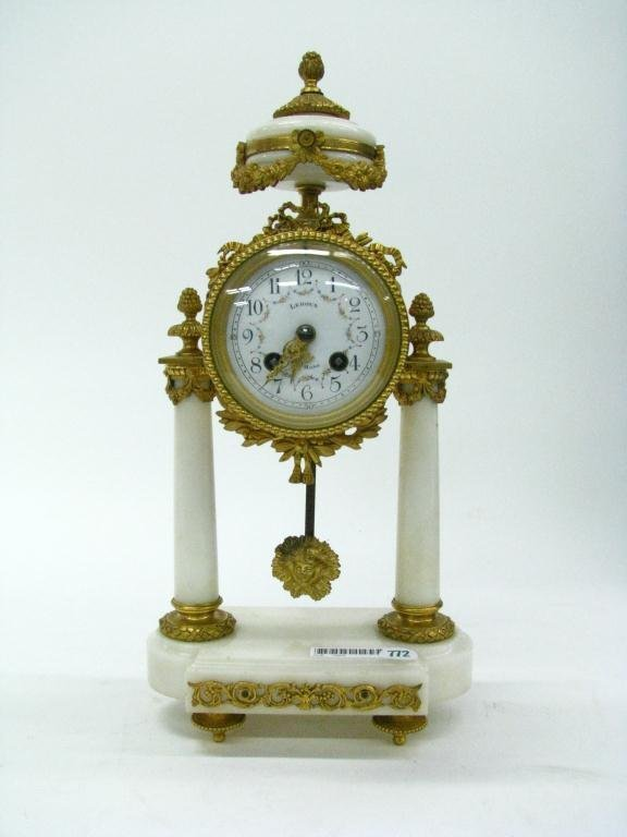 772: Antique French Marble and Gilt Shelf Clock