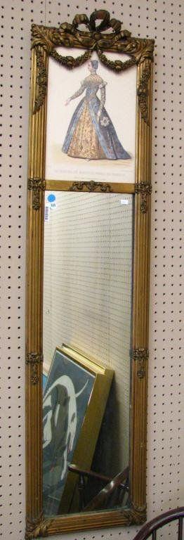 860: French Style Trumeau Mirror, Fashion Print