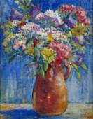 880: F Biddle Ver Steeg 13x10 O/B Floral Still Life