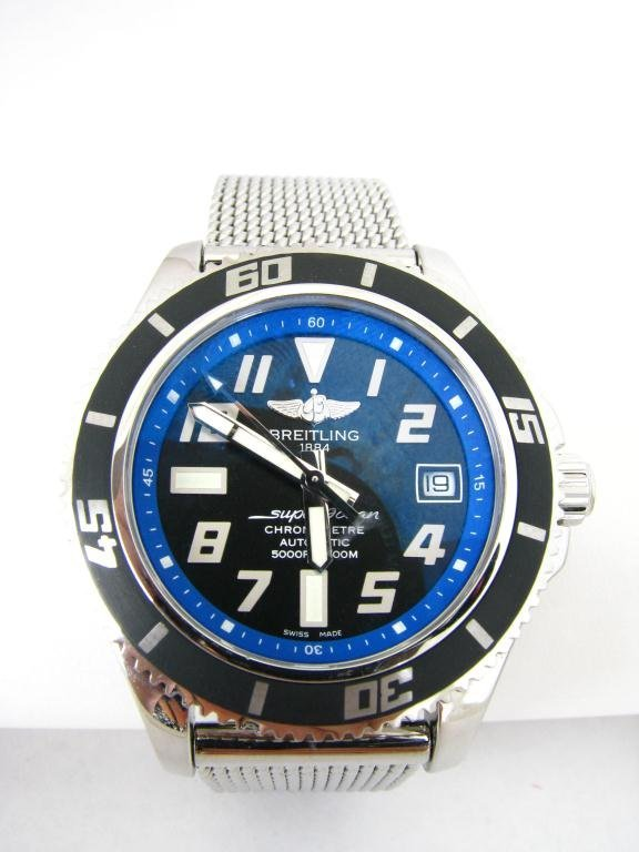 396: Gents Breitling Super Ocean II Abyss, Blue Dial