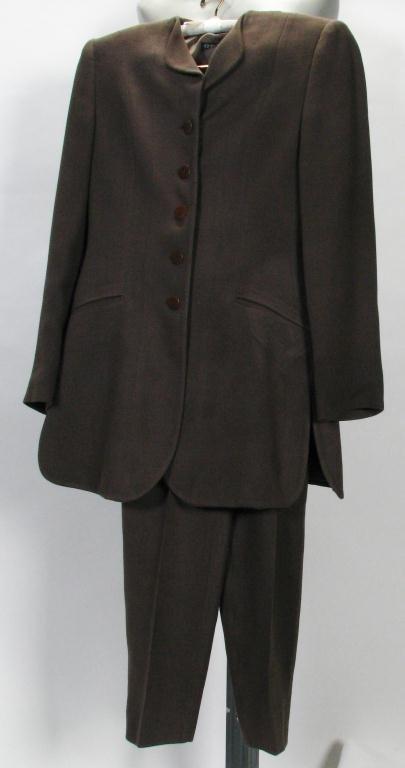 """42: Giorgio Armani """"Black Label"""" Brown Suit"""
