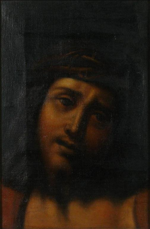 874: Unknown 9x6 O/C Christ Crown of Thorns