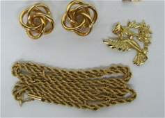 534 Group of 14K Yellow Gold Jewelry