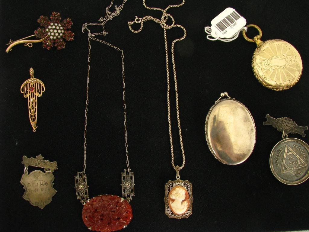 549: Group of Antique Jewelry, Sterling