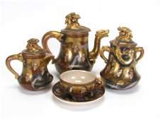 687 Japanese Satsuma Porcelain Tea Set