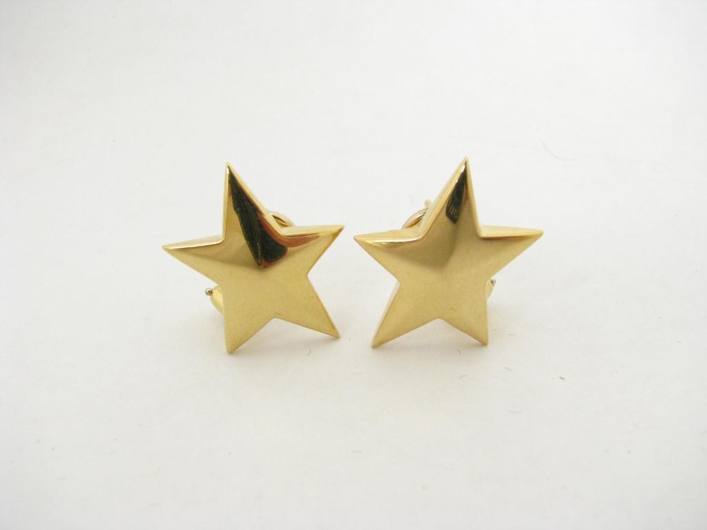 250: Pair of 18K Gold Tiffany 'Star' Earrings