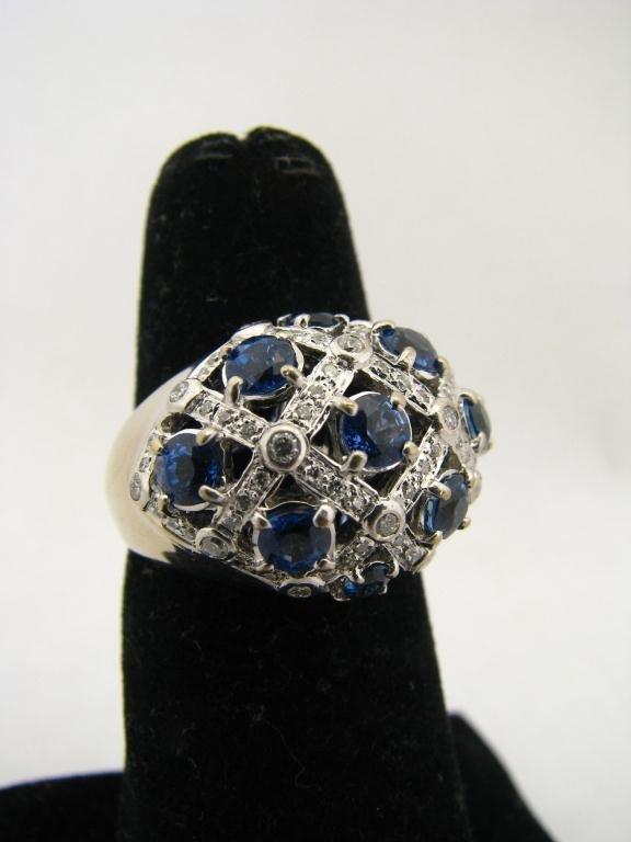 254: 18K LeVian Sapphire and Diamond Ring