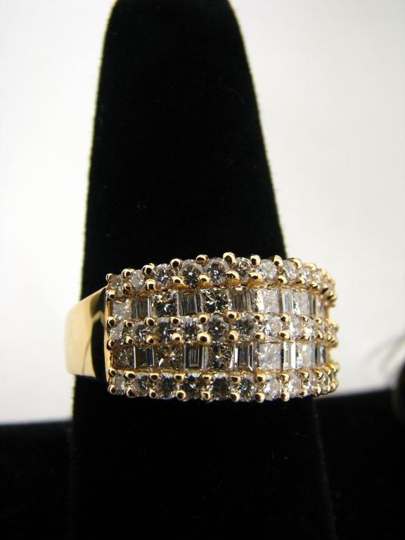 271: 14K YG Diamond Cocktail Ring