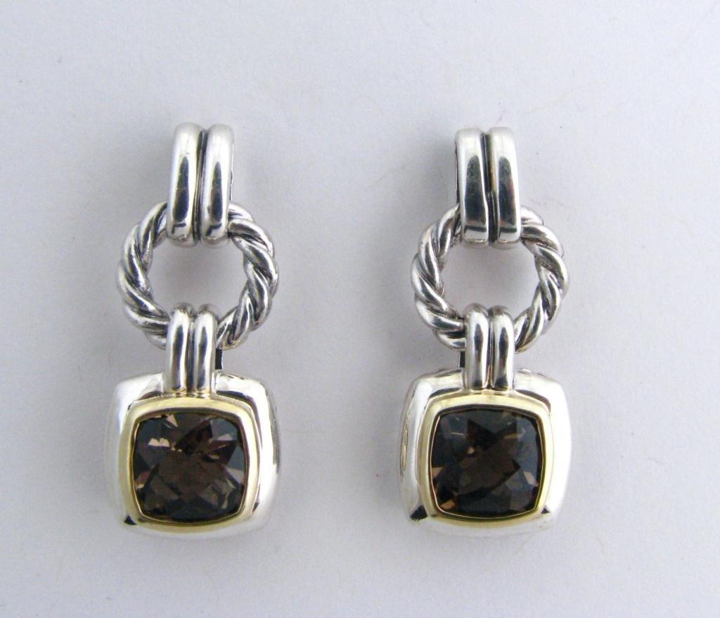 11: David Yurman Smoky Quartz Dangle Earrings
