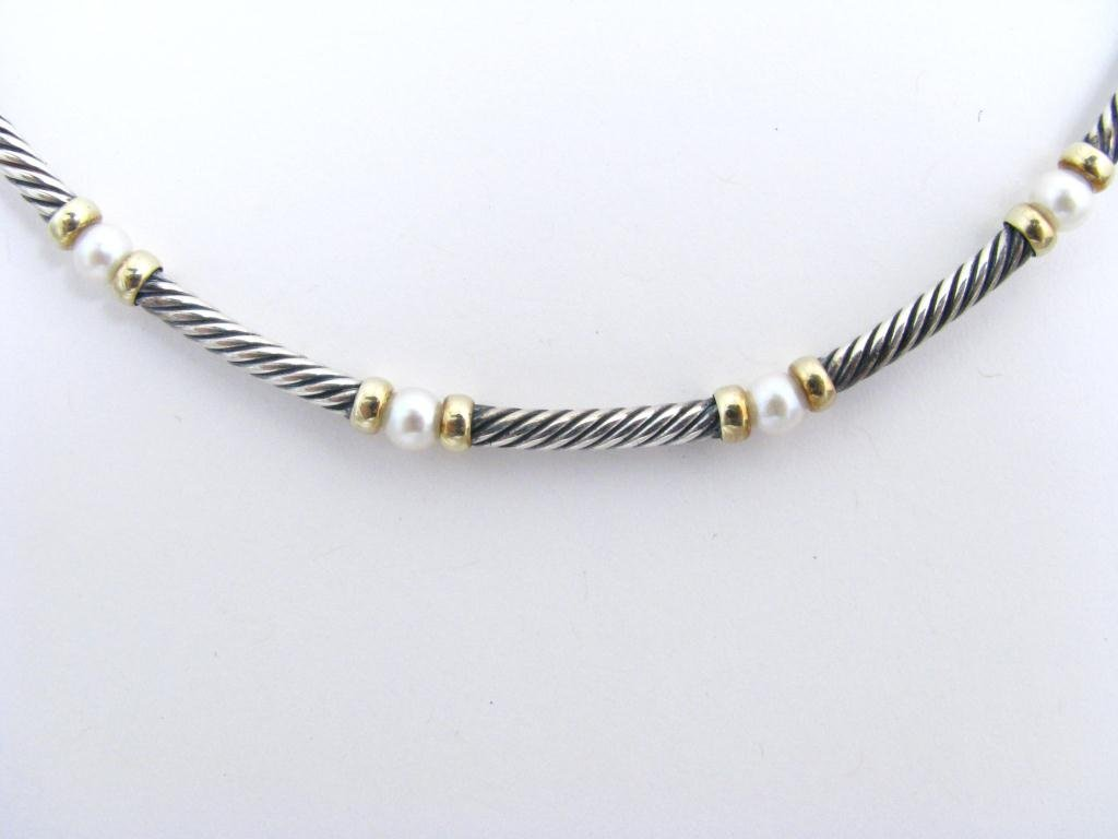 14: David Yurman Sterling & Gold Pearl Necklace