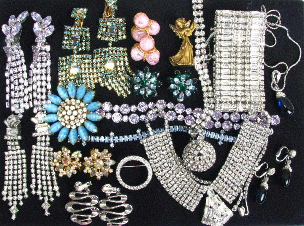 103: Large Lot of Signed & Other Costume Jewelry