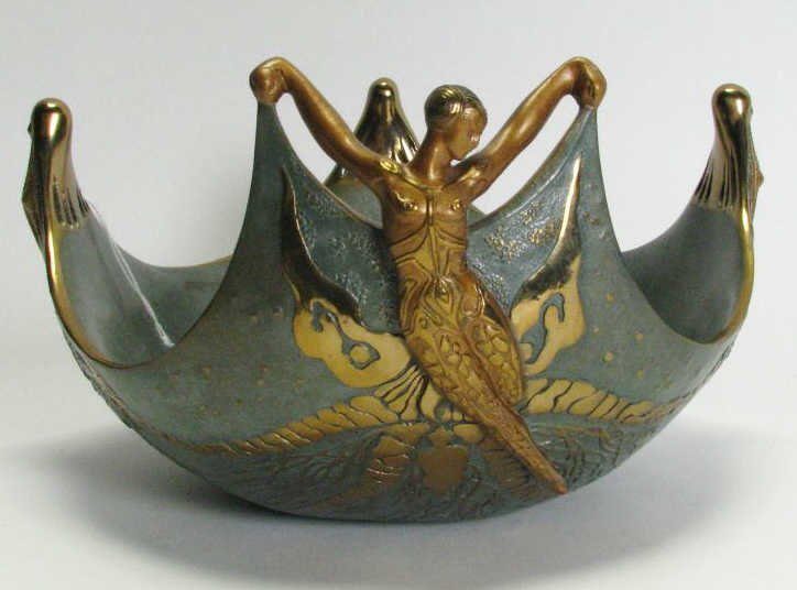 "151: Erte ""Ocean"" Bronze Bowl, Ltd Edition"