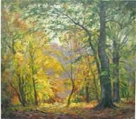 294: VJ Cariani 32x36 O/C Autumn Woods