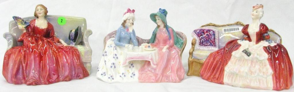 2: Three Royal Doulton Porcelain Figures
