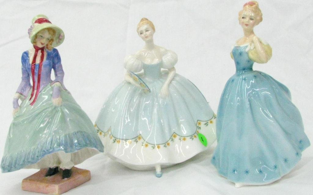 4: Three Royal Doulton Porcelain Figures