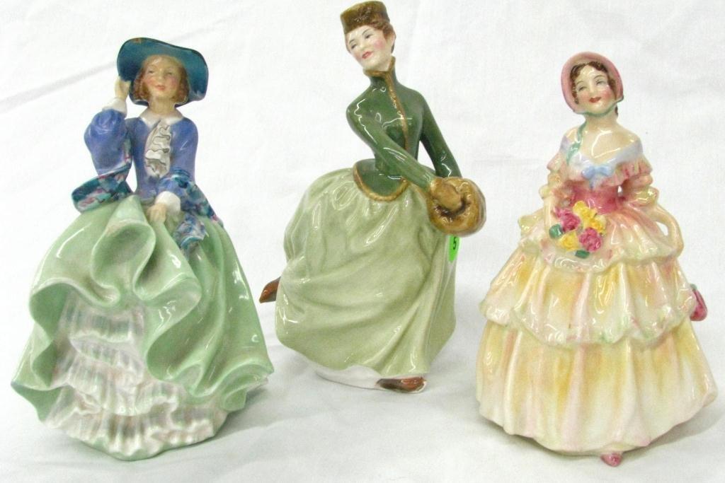 5: Three Royal Doulton Porcelain Figures