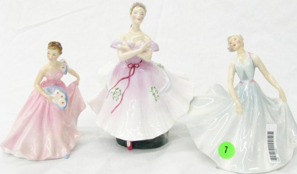 7: Three Royal Doulton Porcelain Figures