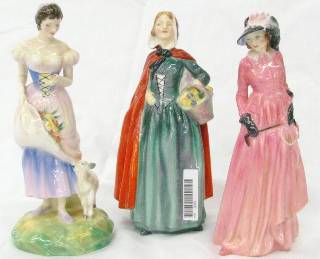 9: Three Royal Doulton Porcelain Figures
