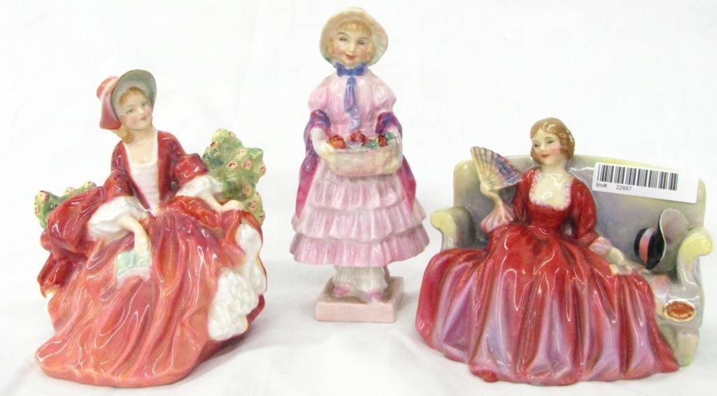 12: Three Royal Doulton Porcelain Figures